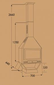 Chimenea Metálica Ref. 285 (TNC)