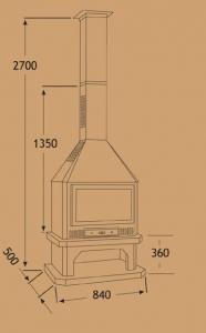 Chimenea Metálica Ref. 286 (TNC)