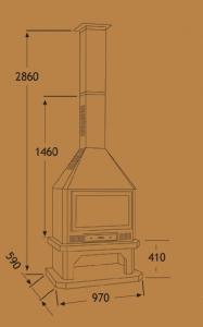 Chimenea Metálica Ref. 281 (TNC)