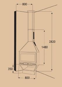 Chimenea Metálica Ref. 250 (TNC)