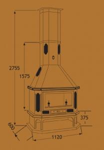 Chimenea Metálica Ref. 282 (TNC)