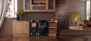 Cocina calefactora de leña Vulcano 7 TE5 (Lacunza)