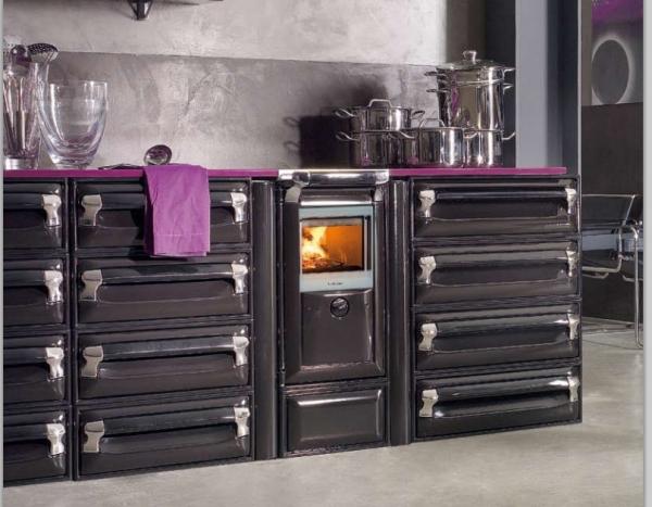 Cocina calefactora de le a vulcano 4e lucenza for Cocina lena calefactora