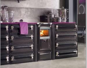 Cocina calefactora de leña Vulcano 4E (Lucenza)