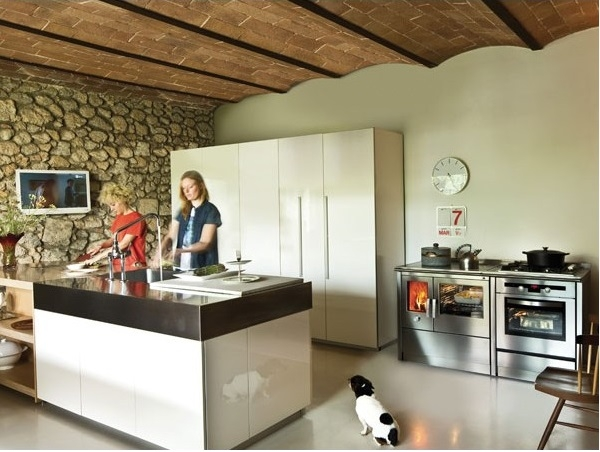 Cocina calefactora neos 155 lge corradi - Cocinas bilbainas calefactoras ...