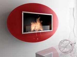 Chimenea a Etanol VIEW con marco de cristal