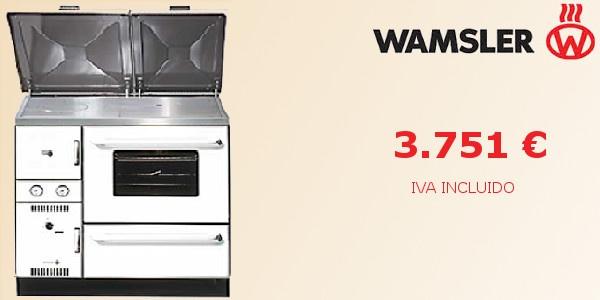 Cocina calefactora de leña Wamsler K 148