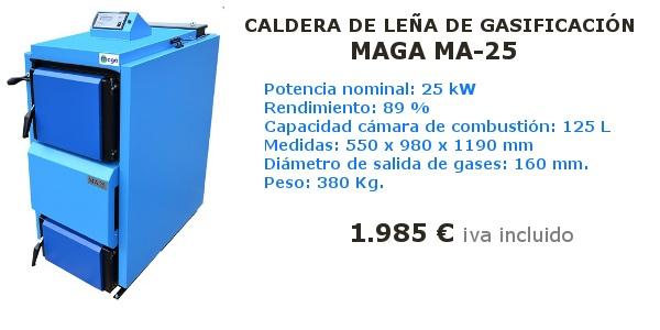 Caldera de leña de gasificación Maga MA-25